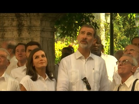 Spanish King And Queen Visits Cuba