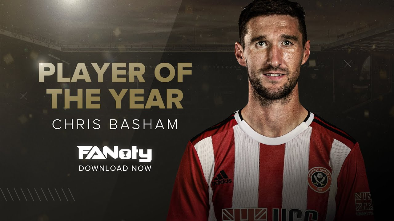 Chris Basham win's Sheffield United Player of the Year Award.