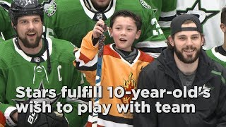 Stars hold Make-A-Wish game for young fan with heart condition