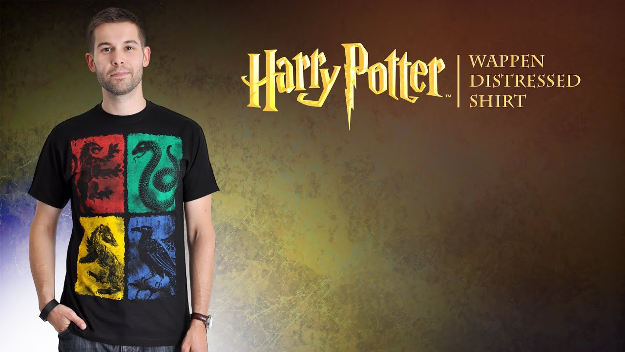 harry potter hogwarts shirt mit h user wappen youtube. Black Bedroom Furniture Sets. Home Design Ideas