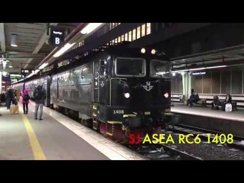 Trainspotting at Stockholm Central Station 2016-12-13 4k / 2160p