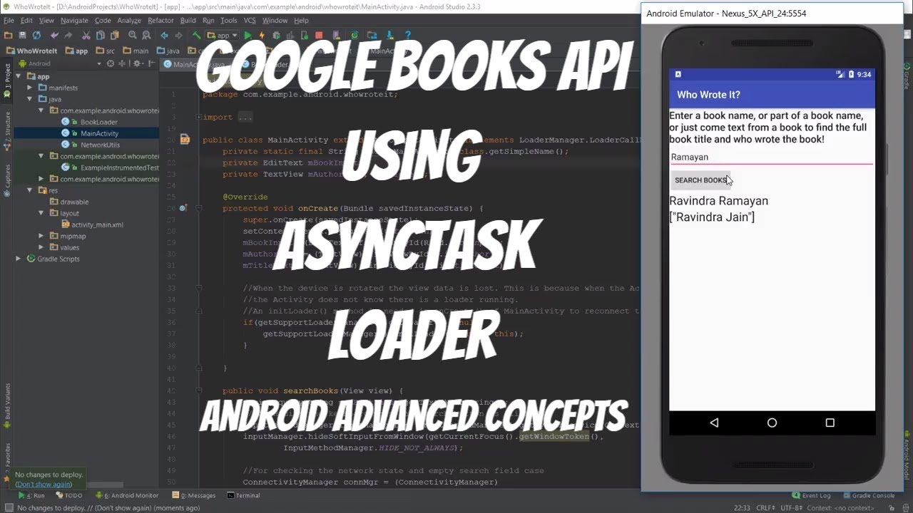 Google Book Cover Images Api : Android asynctaskloader example search books using