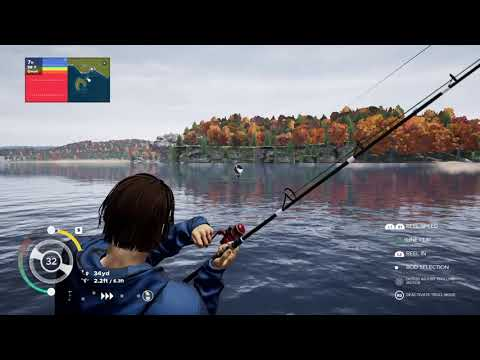 Fishing Sim World Lake Miller 47 LB Musky Reel In |