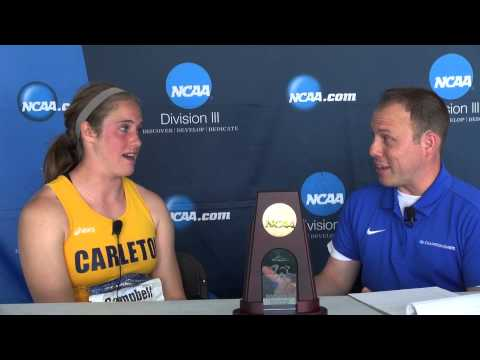 Amelia Campbell Carleton  2014 DIII National Outdoor T&F Championships