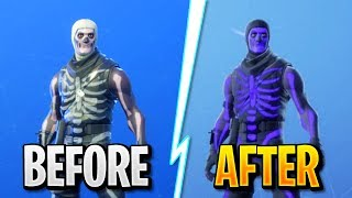 "How To ""UPGRADE SKULL TROOPER"" Skin in Fortnite! (Exclusive FREE PURPLE SKULL TROOPER COLOR Upgrade)"