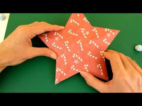 Making 3D Paper Star Christmas Decoration