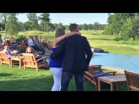 Steve's surprise proposal to Amanda at Prime at Saratoga National