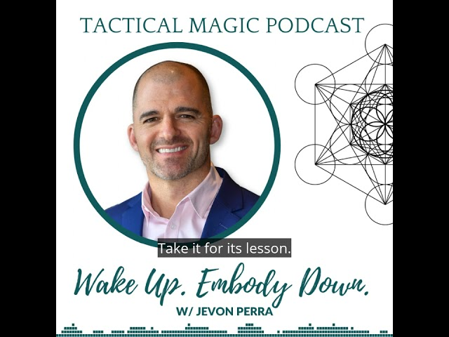 Interview clip on book. Wake Up. Embody Down  with Jevon Perra