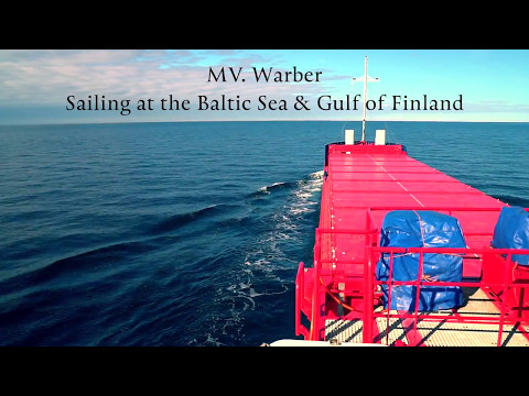 MV. Warber at the Baltic sea & Gulf of Finland