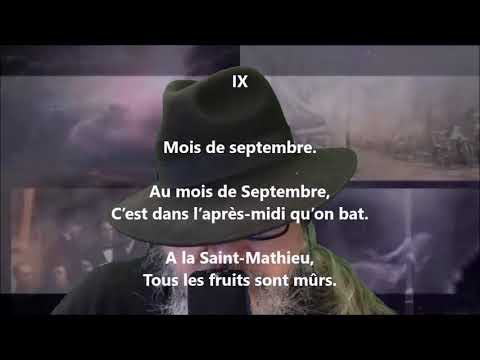 Almanach des laboureurs : Septembre - Auguste Brizeux lu par Yvon Jean