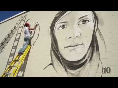 """Girl Noticed"" mural project  (Lincoln, Nebraska)"