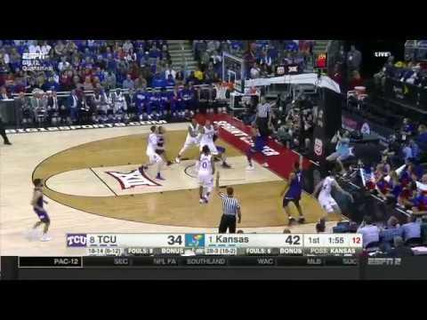 TCU vs Kansas | 2016-17 Big 12 Men's Basketball Highlights