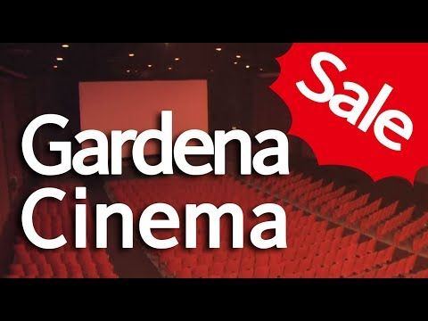Gardena Cinema, old-fashioned single screen movie theater, l