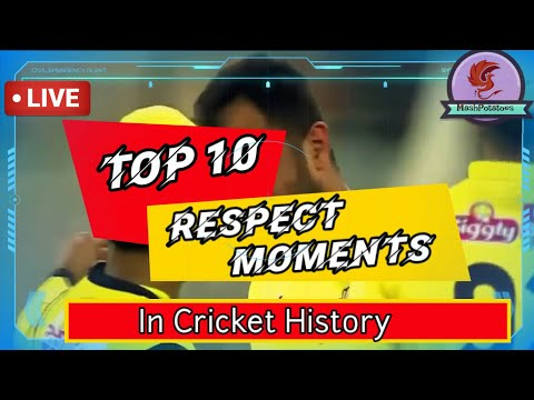 Top 10 Respect Moments in Cricket history | Heart touching Moments 2020 | MashPotatoes YTC
