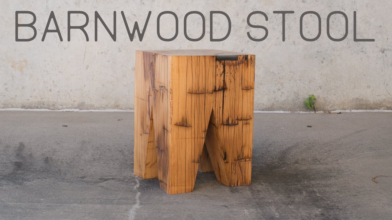 How to Build An End Table / Stool With Reclaimed Wood ...