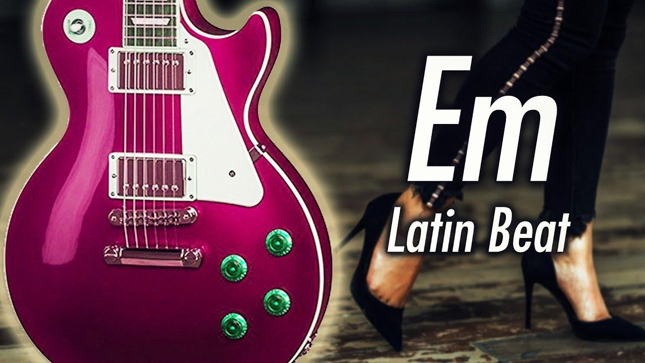 Latin Piano & Guitar Backing Track (E Harmonic Minor)