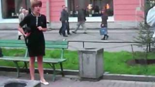 Fight On Open Street Between Ukraine Man And Women!!! LMAO!!!