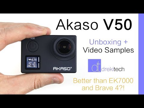 Akaso V50 Unboxing and Review | Better than the EK7000 and Brave 4? | Lots of Video Samples!