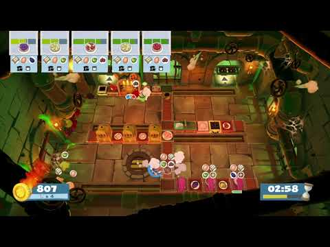 overcooked 2 Night of the Hangry Horde 2-3 switch  3players  2455 score ( ellica, ohongki and Ju2 ) |