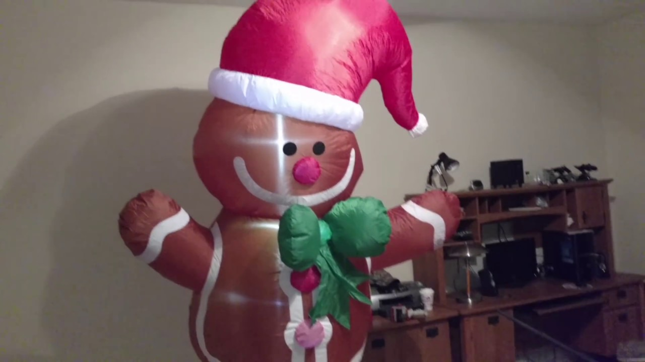 big lots 2016 8ft gingerbread man inflatable review youtube - Inflatable Gingerbread Man Christmas Decor