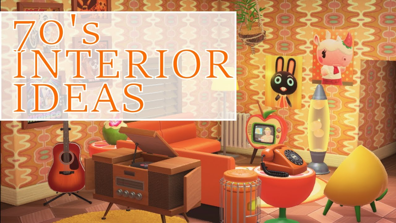 Colorful Vintage Interior Speedbuild - Animal Crossing New ... on Animal Crossing New Horizons Living Room Ideas  id=31176