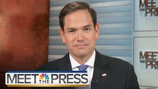 Marco Rubio: 'Take a Deep Breath' on Russia Investigations (Full) | Meet The Press | NBC News