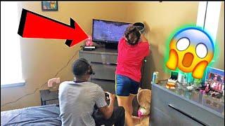 SMASHING MY BOYFRIEND TV !!!