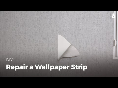 How to Repair a Strip of Wallpaper | DIY Projects