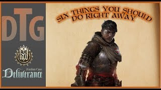 Kingdom Come Deliverance Six Things You Should Do Right Away After the Tutorial