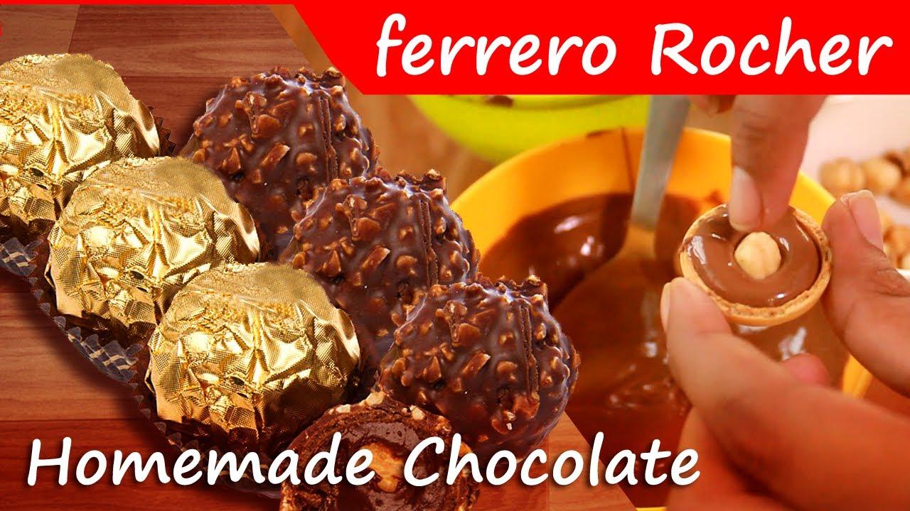 Ferrero Rocher Chocolate: Home Made Ferrero Rocher Chocolate ...