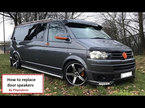 VW T5 Van camper how to replace door speakers (the cheap way) simple guide
