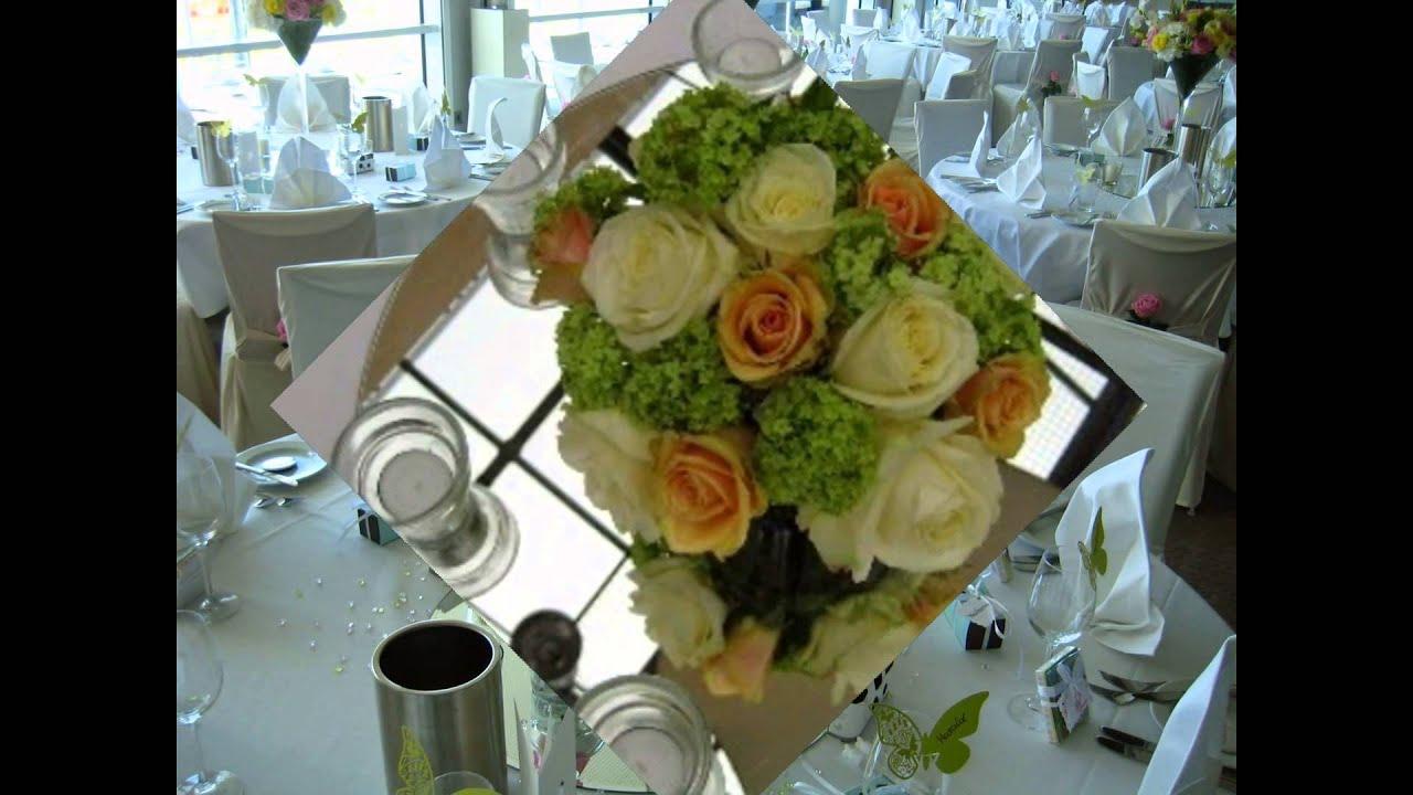 blumen hochzeit tischdekoration flower table decoration f r. Black Bedroom Furniture Sets. Home Design Ideas