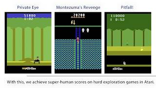 """Teaser video to our NeurIPS paper """"Playing hard exploration games by watching YouTube"""""""