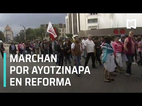 Marcha por Ayotzinapa sobre Paseo de la Reforma - Las Noticias
