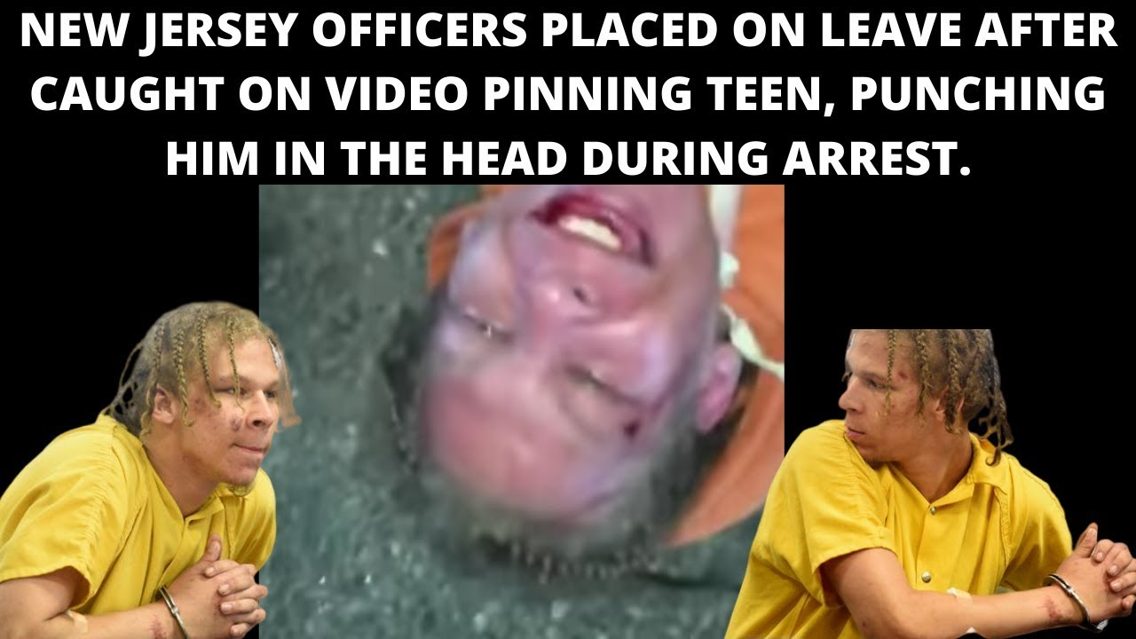 |NEWS| New Jersey Police Punching A 19-Year-Old Suspect In The Face As He Was Pinned To The Ground.