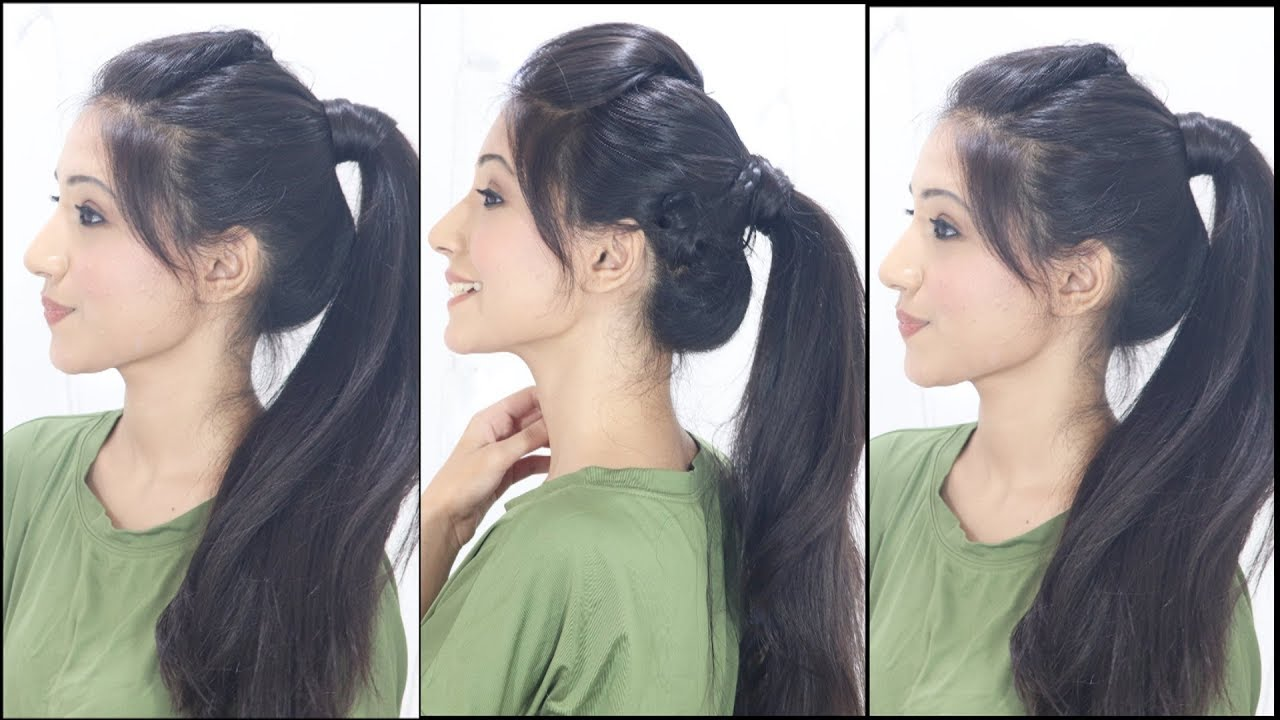 3 simple & cute ponytail hairstyles for indian school & college girls