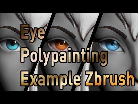 """Eye Polypainting example - Rhett Mason """"Andra"""""""