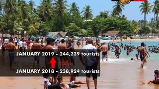 Tourism industry grows by 2.2% in January