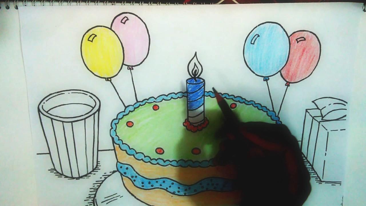 Dapatkan Gambar Kue Ulang Tahun Mewarnai