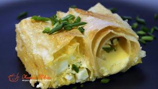 ПИРОГ ИЗ ЛАВАША с яйцом сыром и зеленым луком Самый быстрый рецепт пирога
