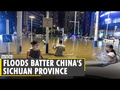 Thousands evacuated from floods in China's Sichuan province   Rainstorms   Latest World News   WION