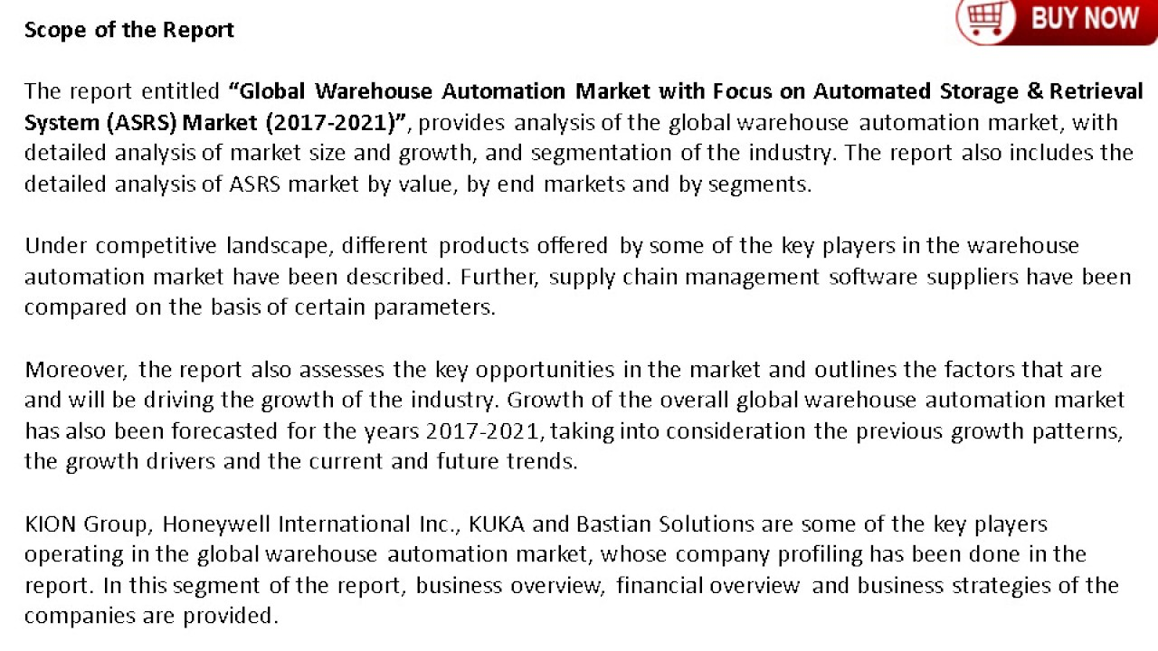Warehouse Automation Market Analysis, Trends and Global Forecast by 2021