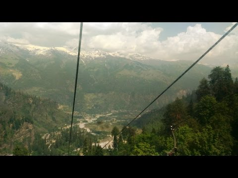 Rope way at Solang Valley Manali - India Tourism HD Video