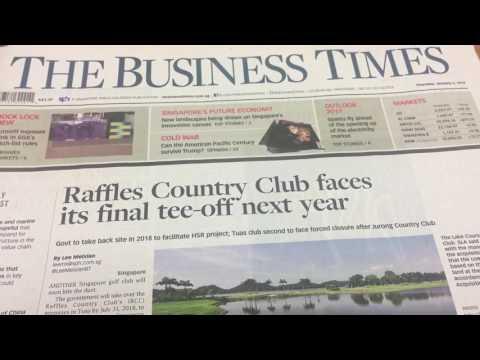 Raffles Country Golf Club Singapore Gone swallowed V Log