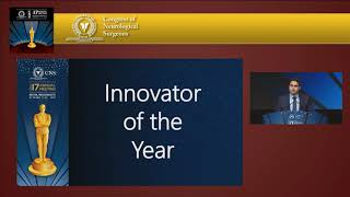 Alexander A. Khalessi, Announcement of Innovator of the Year, GSS IV, 2017 CNS Annual Meeting