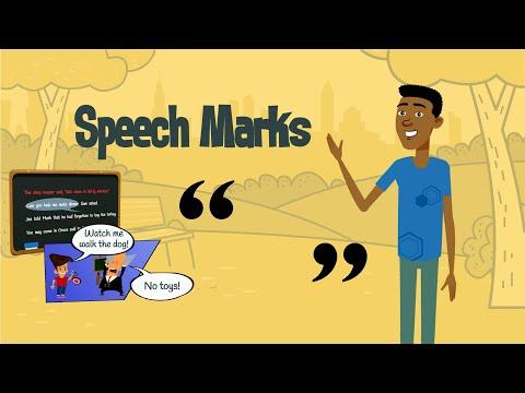 Using Speech Marks | Punctuating Direct Speech | EasyTeaching
