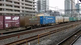 EH500牽引 上り貨物列車