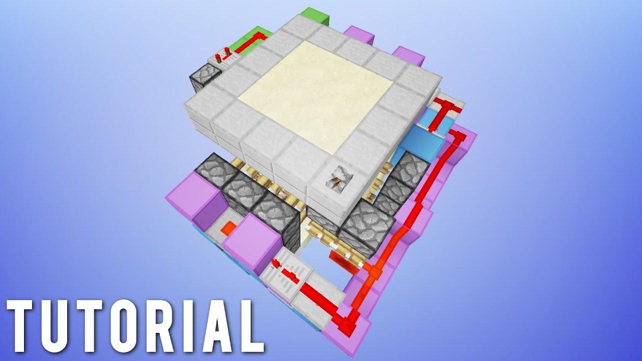 Minecraft Simple 3x3 Flush Hidden Trapdoor Tutorial Youtube Schematic