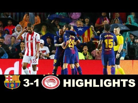 Barcelona vs Olympiakos 3-1 Extended Highlights - Champions League 18/10/2017