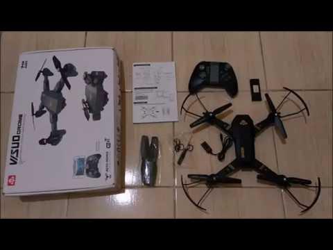 TIANQU XS809W Foldable RC Quadcopter Sample Video